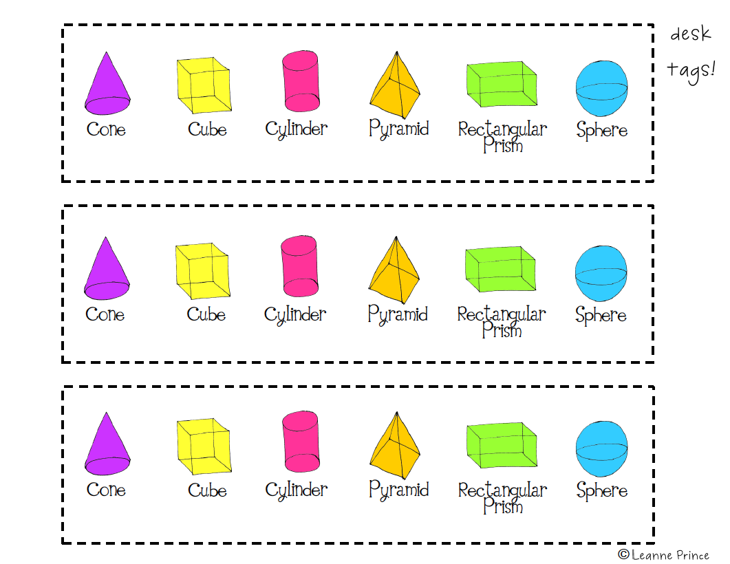 Mrs Prince And Co 3 D Shapes Poster Pack