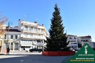 Στήθηκε το Χριστουγεννιάτικο δένδρο στο Άργος Ορεστικό
