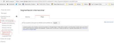 cómo segmentar tu sitio web y entregar internacionalmente una segmentación desde Google