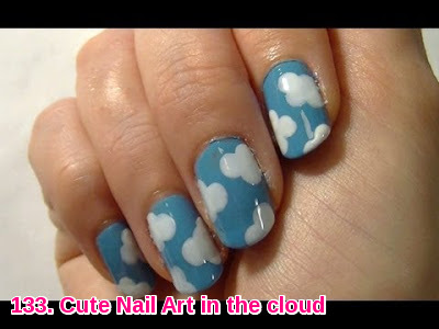 Cute Nail Art in the cloud