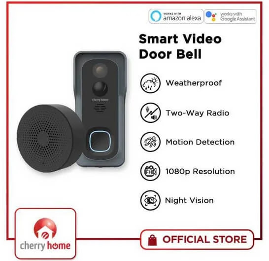 Cherry Smart Video Door Bell with Night Vision and Two-Way Radio is Priced for Only Php5,000