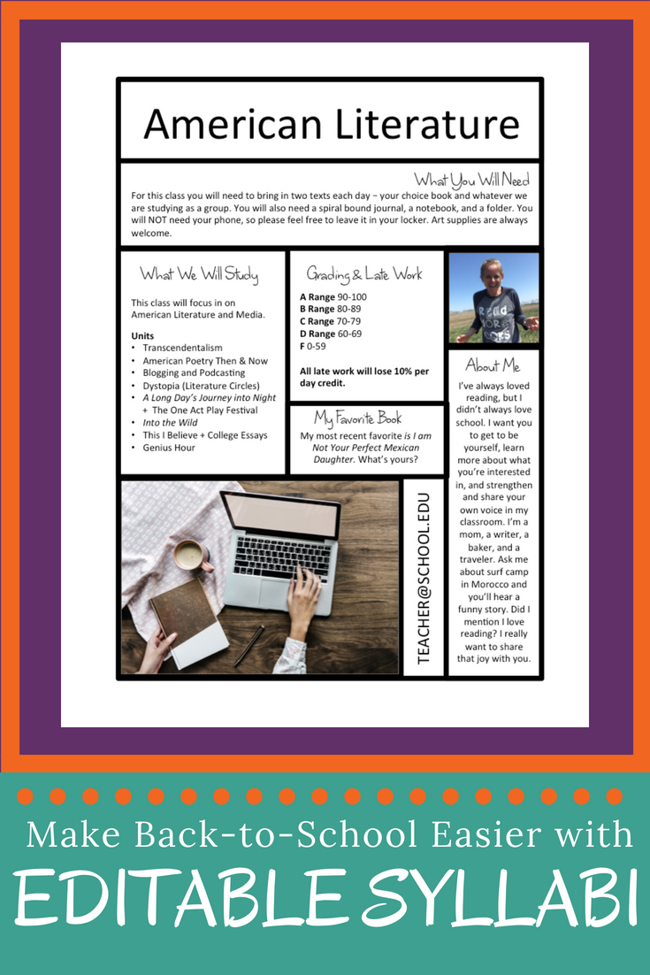 Free Syllabus Templates For Teachers Spark Creativity
