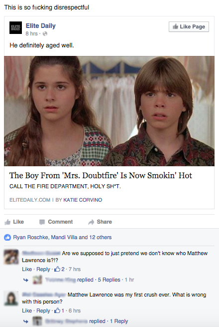 The One Where Nobody Knew Matthew Lawrence