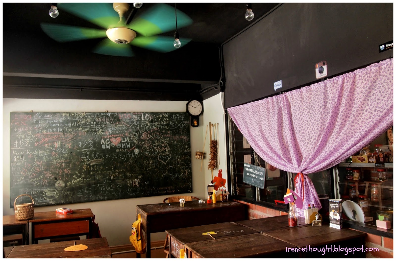 Classroom inside a cafe