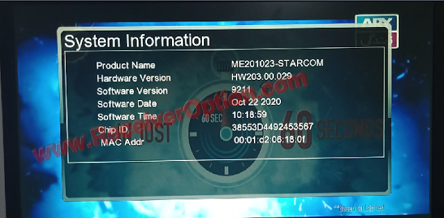 STARCOM GX6605S HW203.00.29 U17 NEW SOFTWARE 22 OCTOBER 2020