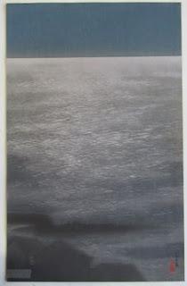 川面義雄(根来莱山) 品川夜の海 の木版画販売買取ぎゃらりーおおのです。愛知県名古屋市にある木版画専門店