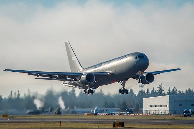 Aviationist USAF KC-46 Tanker first flight