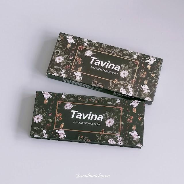 [Review] TAVINA 4-color concealer 白蔷薇四色修容遮瑕膏