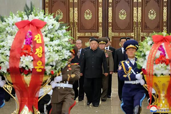 Kim Jong Un at Kumsusan Palace of Sun