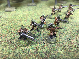 Star Wars Rodians in 15mm painted with GW Contrast Paints