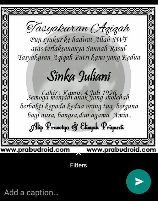 contoh undangan aqiqah digital