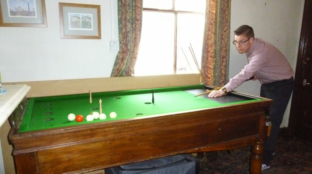 Bar Billiards at The Golden Ball pub in York