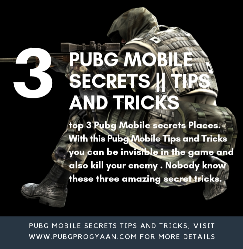 PUBG MOBILE 3 secrets || Tips and Tricks