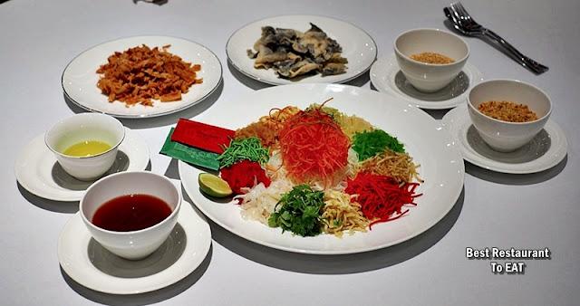 Chinese New Year Set Menu - Wan Chun Ting - Menu - Crispy Fish Skin Yee Sang