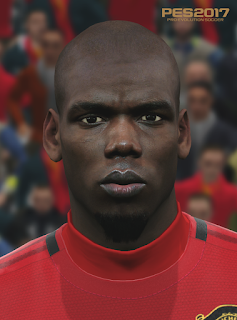 PES 2017 Faces Paul Pogba by Love01010100