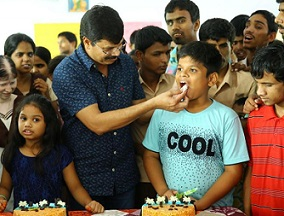 Boyapati Srinu's Children Birthday At Sai Junior College Photos