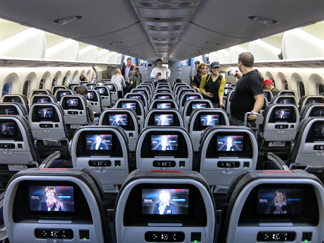 boeing 787-9 dreamliner american airlines inflight entertainment system