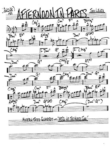 Partitura Trombón John Lewis