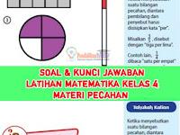 Soal dan Kunci Jawaban Latihan Matematika Kelas 4, Materi Pecahan