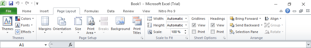 Menu Page Layout Pada Microsoft Excel