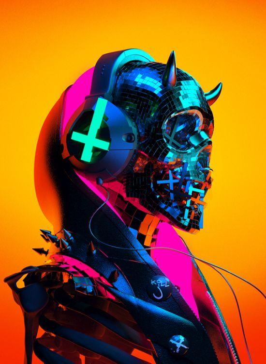 Sick Mick behance instagram arte modelos 3d esculturas macabras bizarras sombrias religião