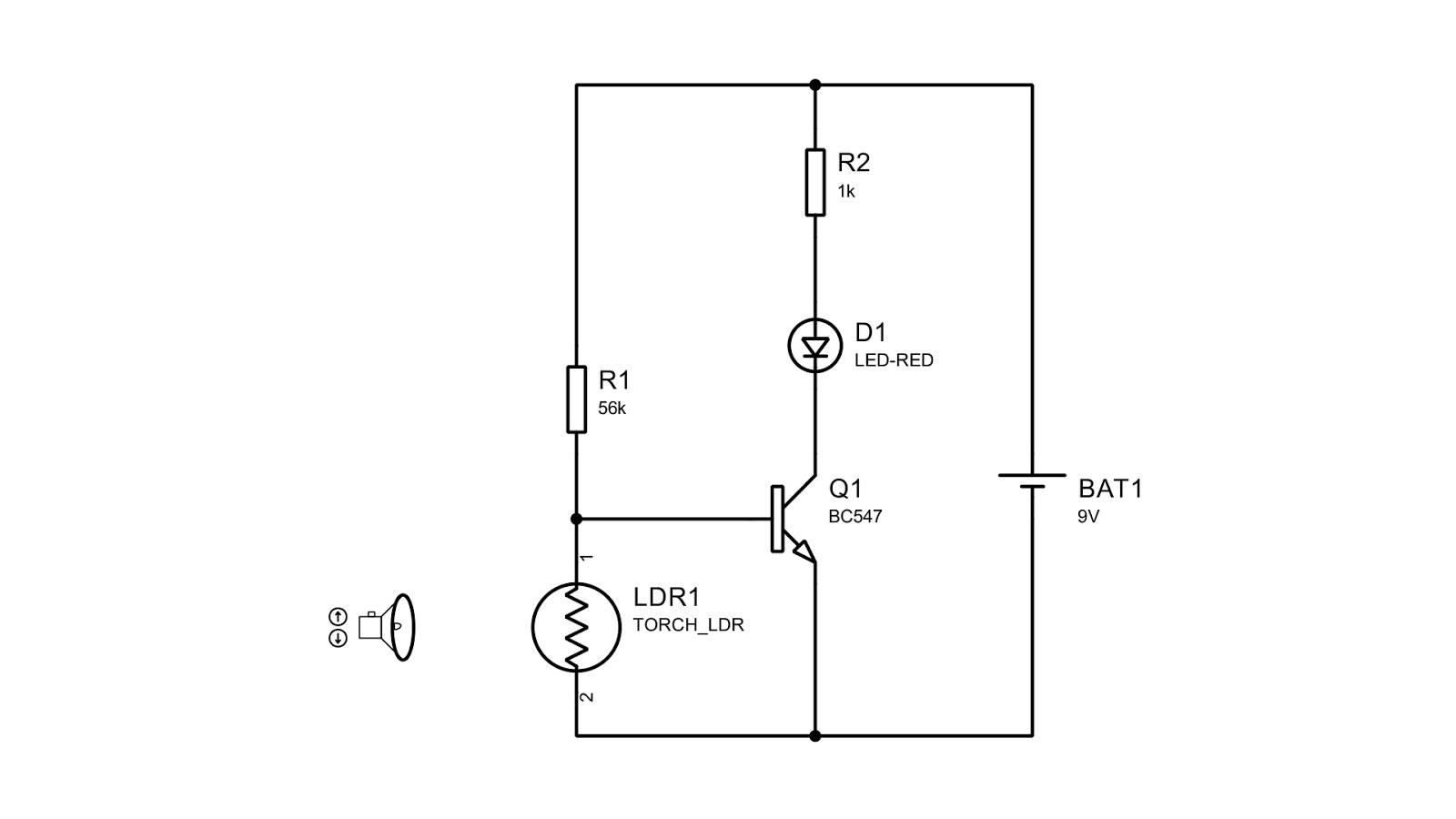 Simple Basic Ldr Darkness Sensor Circuit Using Npn Transistor