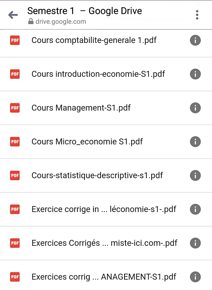 Semestre 1 Cours Resume Exercices Corriges