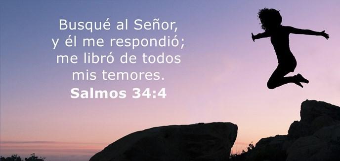 Busqué al Señor, y él me respondió; me libró de todos mis temores.