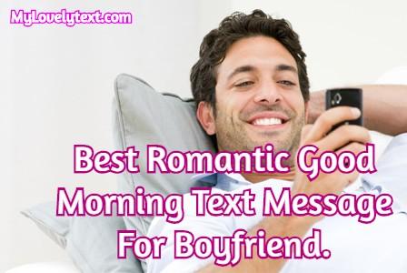 cute good morning text for boyfriend