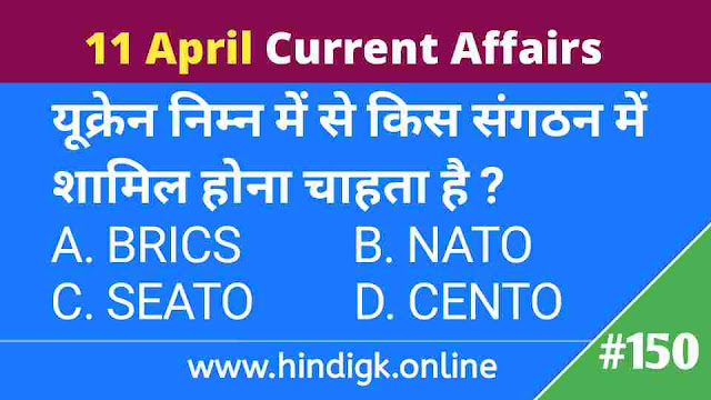 11 April 2021 Current Affairs In Hindi