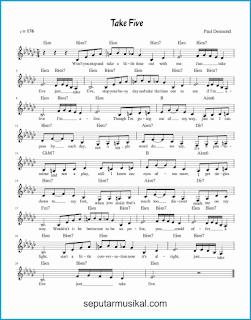 chord take five lagu jazz standar