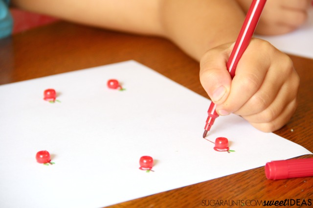 Ten Apples Up on Top pre-writing activity