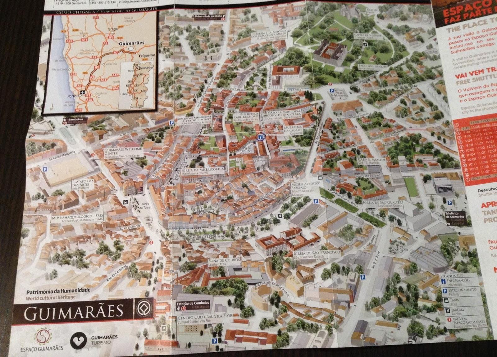 mapa centro historico guimaraes Guimarães   Centro histórico   Viagens e Passeios mapa centro historico guimaraes