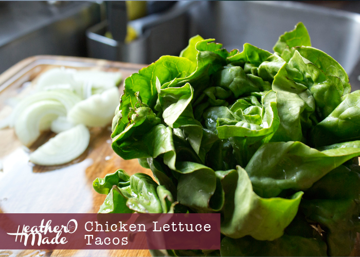 Chicken Lettuce Tacos recipe