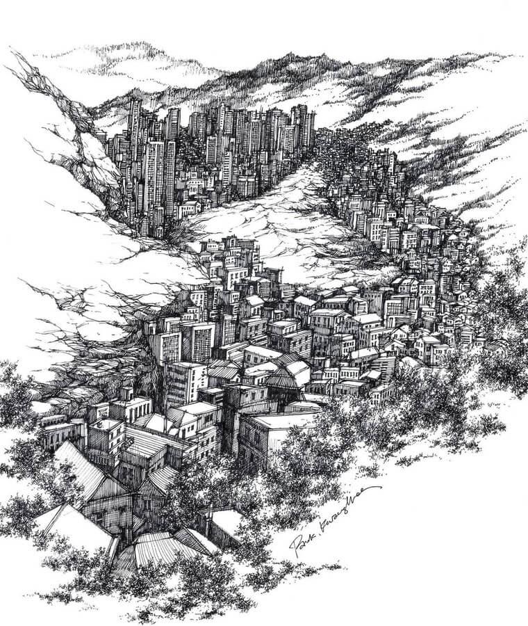 03-The-city-sketch_forum-www-designstack-co