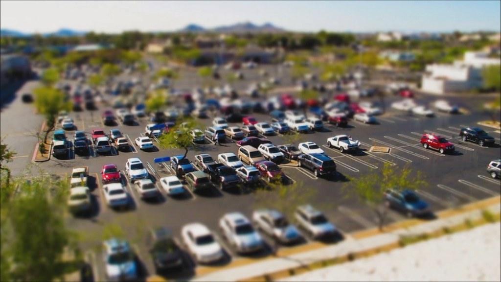 Ilustrasi parkiran rental mobil