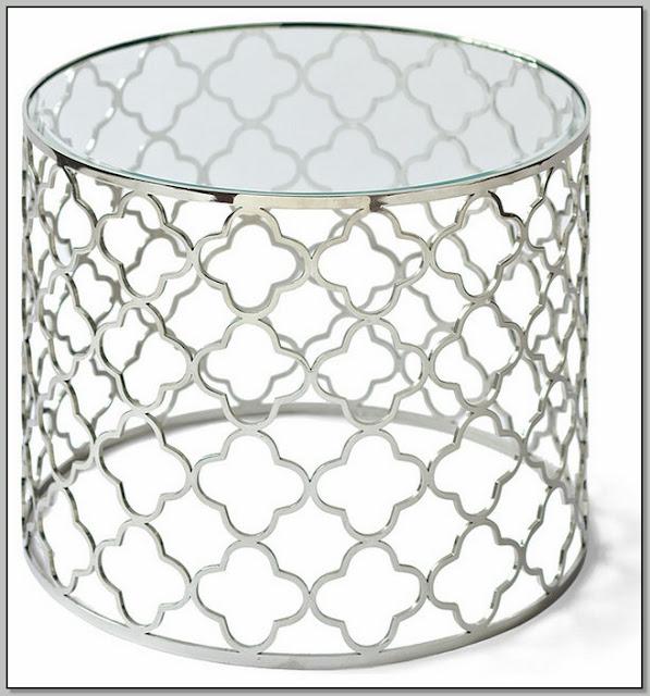 Quatrefoil Coffee Table Silver
