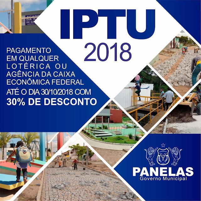 IPTU 2018 - Panelas-PE