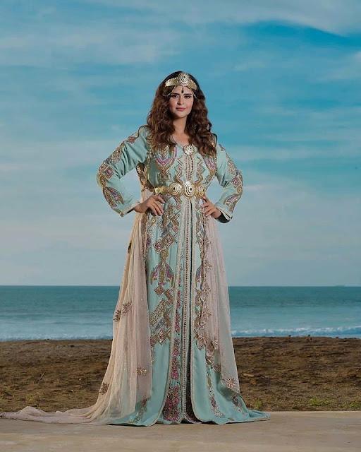 caftan marocain de mariage salma  rachid
