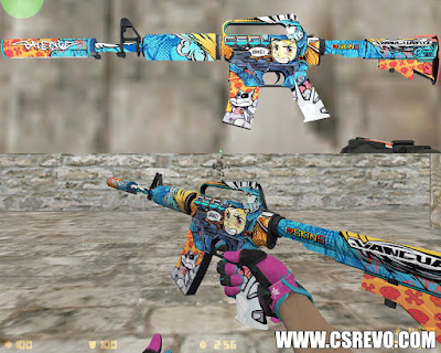 Skin M4A1 - Player Two Sport VICE (CS:GO) - HD para CS 1.6 m4 coult