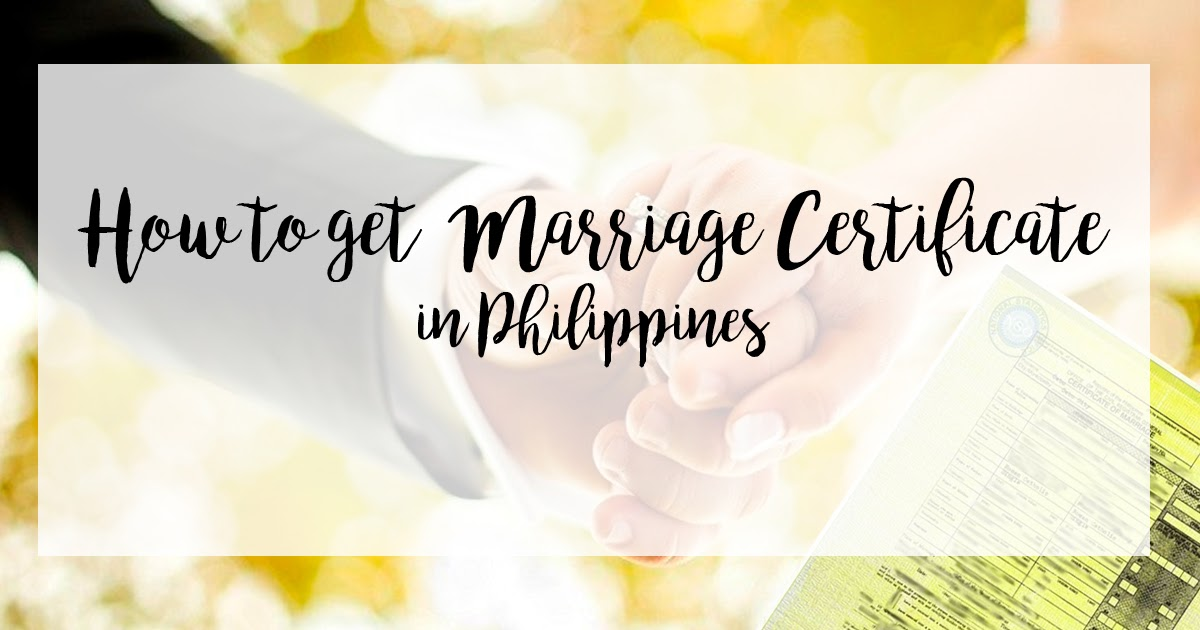 how to get marriage certificate in philippines