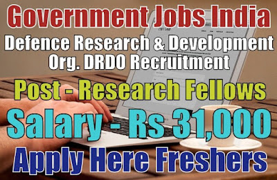 Defence Research DRDO Recruitment 2019