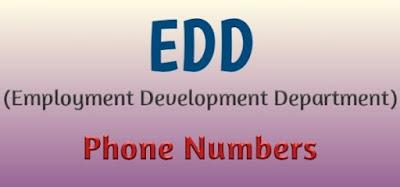 Edd Phone Numbers, Edd Customer Service Number