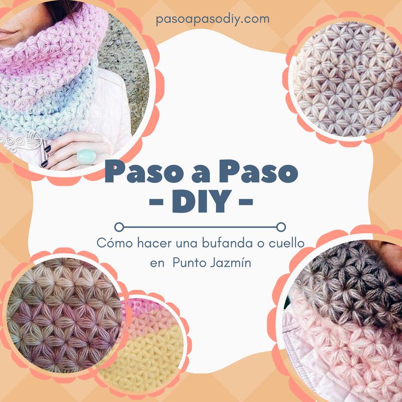 Cuello o Bufanda en Punto Jazmín - DIY | Paso a Paso