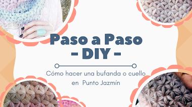 Cuello o Bufanda en Punto Jazmín - DIY