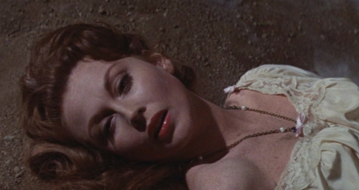 Hazel Court in the climactic scene of The Premature Burial (1962)