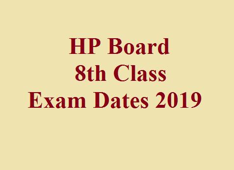 HP Board 8th Class Exam Dates 2019 - All HP Exam