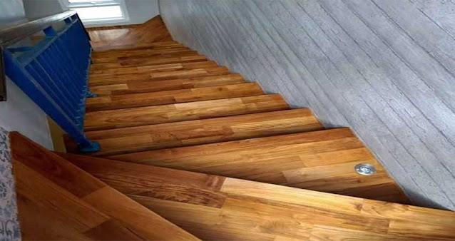 Jual papan tangga kayu jati dan merbau