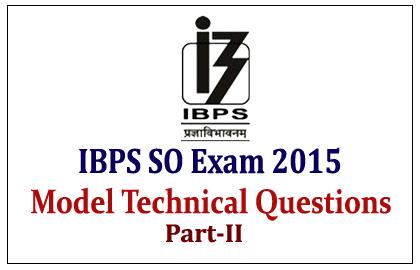 IBPS Specialist Officer Exam 2015