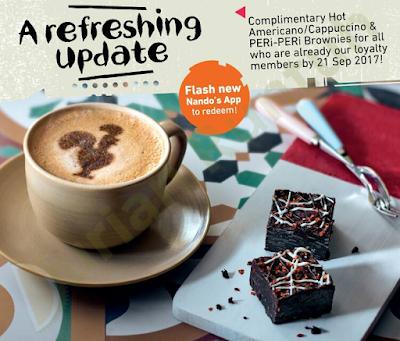 FREE Nandos' Hot Americano Cappuccino PERi-PERi Brownie